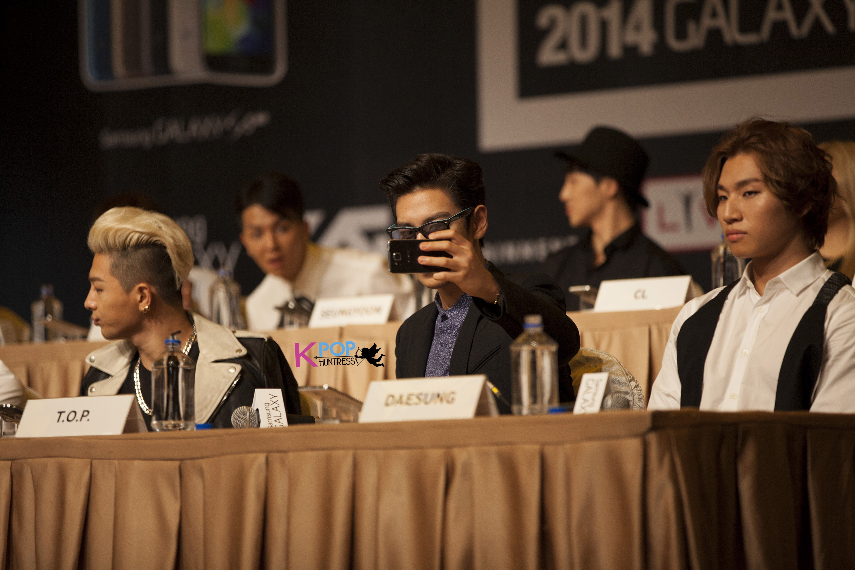AT THE PRESS CONFERENCE OF THE YG FAMILY 2014 GALAXY TOUR ...